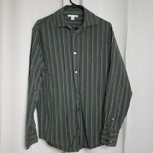 Banana Republic Green Black Grey Dress Shirt